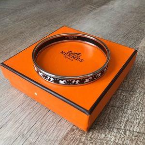 Hermes Black and White Enamel Bracelet